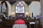 The choir & chancel areas at front